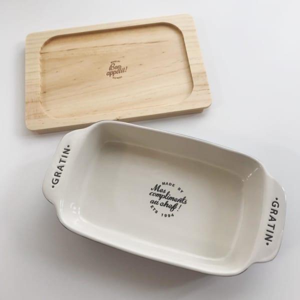 3COINS グラタン皿と木製トレイ