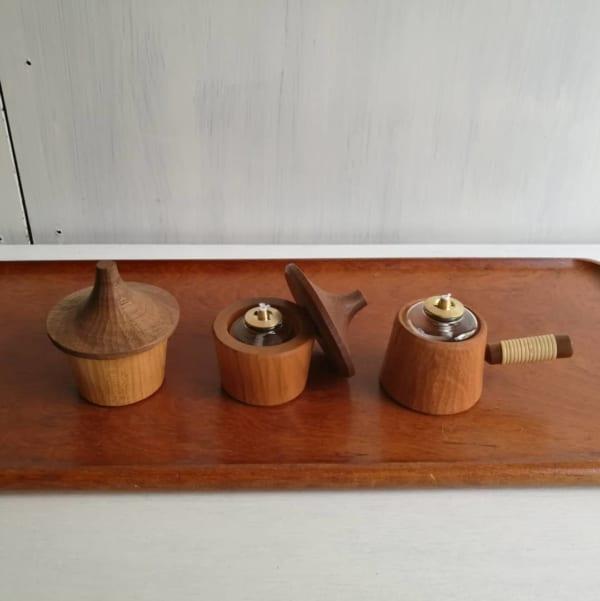木製オイルランプ