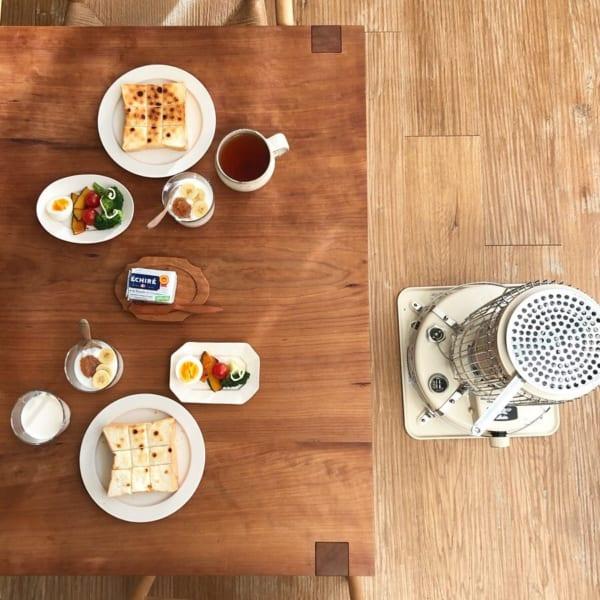 朝ごはん カフェ風盛り付け
