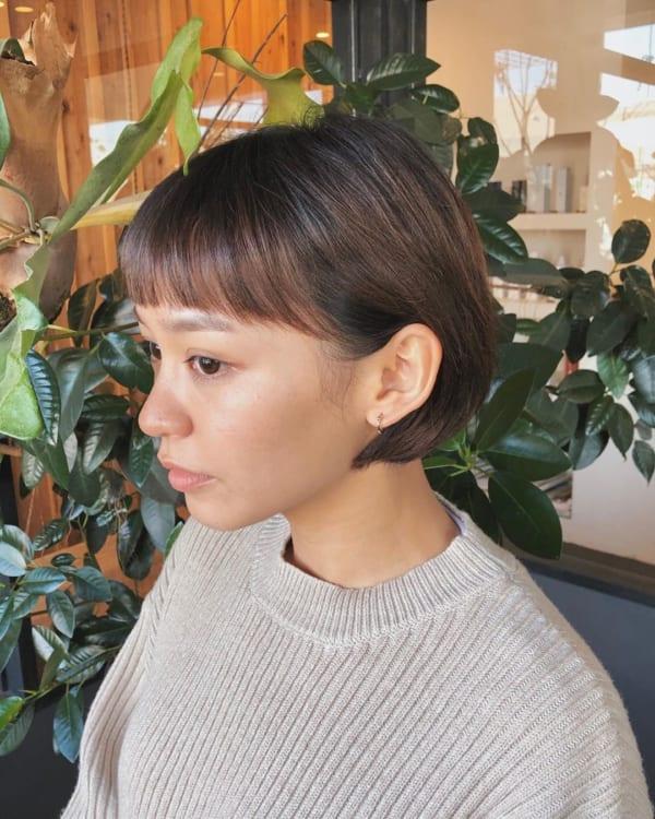 前髪短めショートボブ12