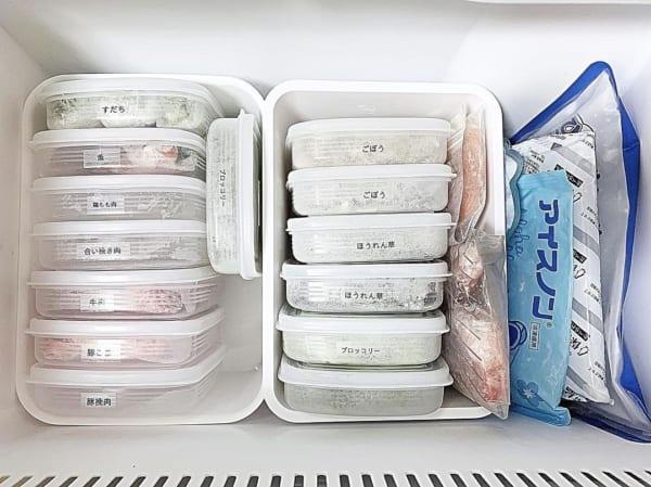 タッパー収納 冷凍庫5