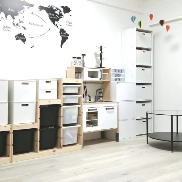 IKEAのアイテムを使用したおもちゃ収納58