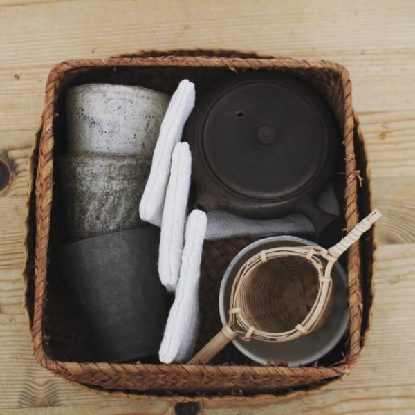 かご お茶の道具