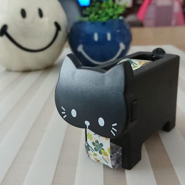 黒猫モチーフのマスキングテープカッター