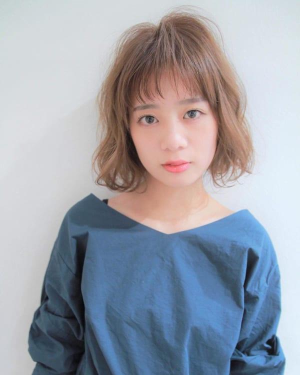 前髪短めボブ・ミディアムボブパーマ3