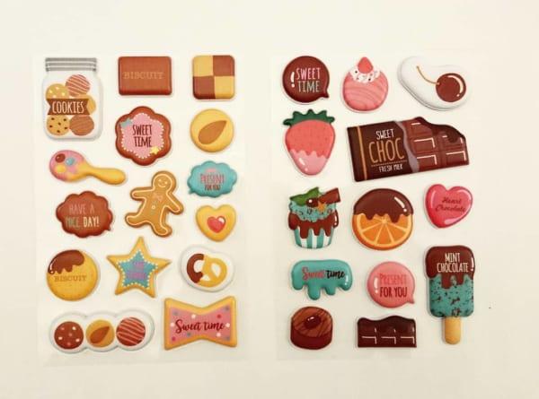 キャンドゥのチョコレートシリーズ・立体ステッカー