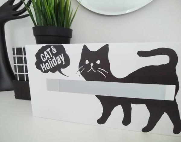 黒猫モチーフのティッシュケース
