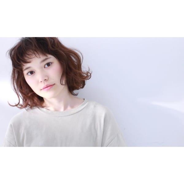 前髪短めボブ・ミディアムボブパーマ4