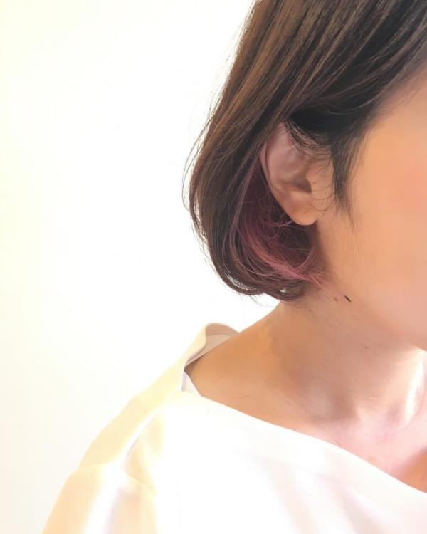インナーカラー・メッシュ ピンク6