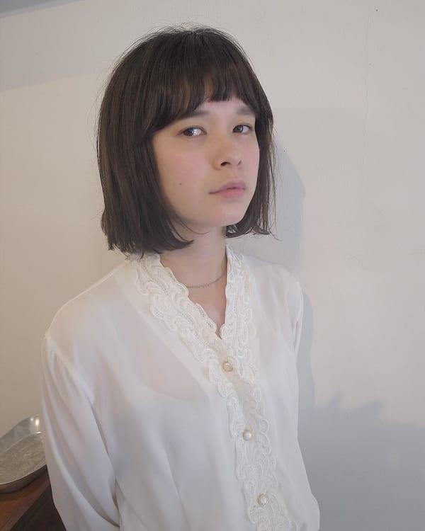 前髪短めボブ・ミディアムボブ10
