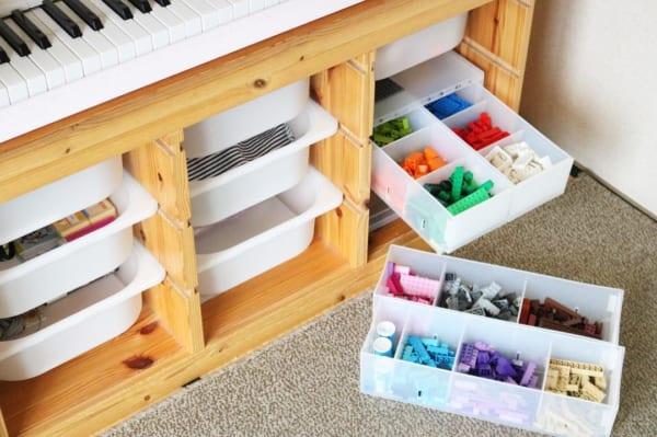 IKEAのアイテムを使用したおもちゃ収納35