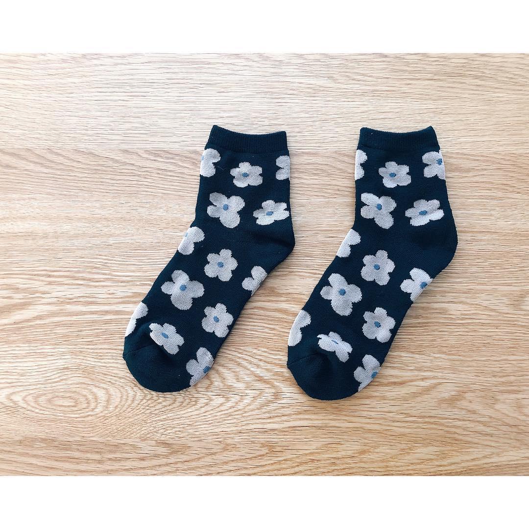 キャンドゥ 北欧柄 マリメッコ風 靴下