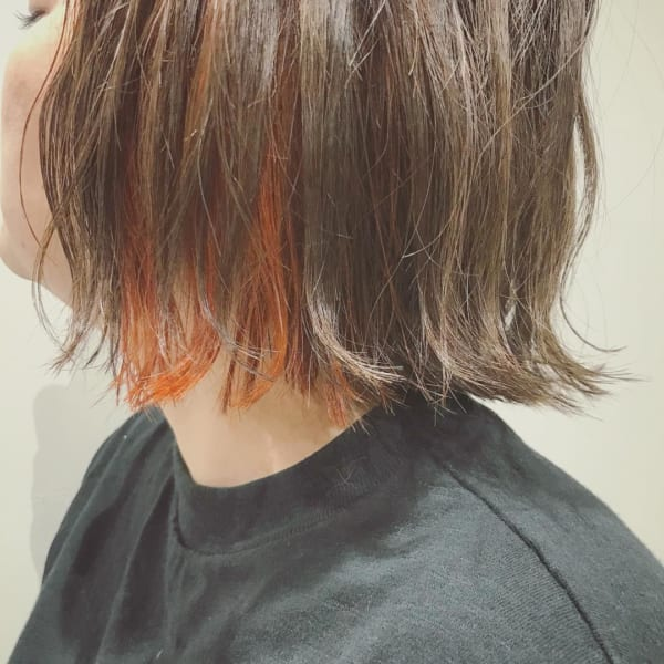 インナーカラー・メッシュ オレンジ3