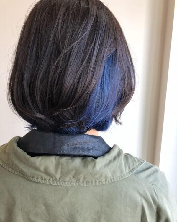 インナーカラー・メッシュ 青3