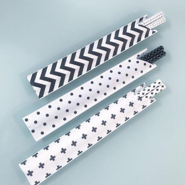 セリアの柄物の箸袋