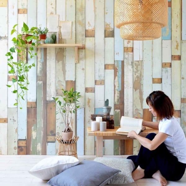 お部屋のDIYアイデア⑤壁紙を張り替えて部屋のイメージを変える9