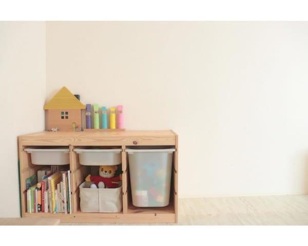 IKEAのアイテムを使用したおもちゃ収納36