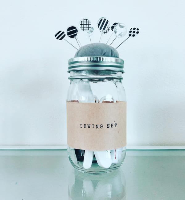 裁縫道具収納 瓶