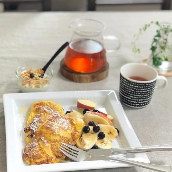 朝ごはん カフェ風盛り付け3