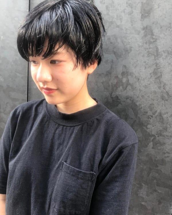 グラデーションボブ 黒髪3