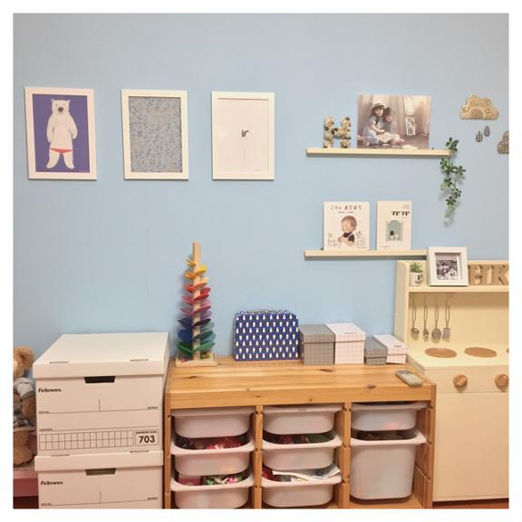 IKEAのアイテムを使用したおもちゃ収納31