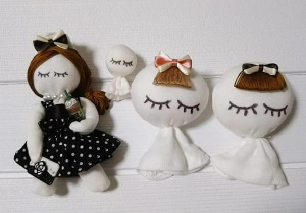手作りおもちゃ まつげちゃん人形&テルテルまつげちゃん