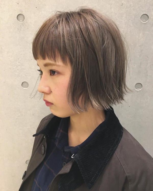 前髪短めショートボブ7