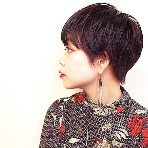 黒髪ベリーショート④前髪あり15