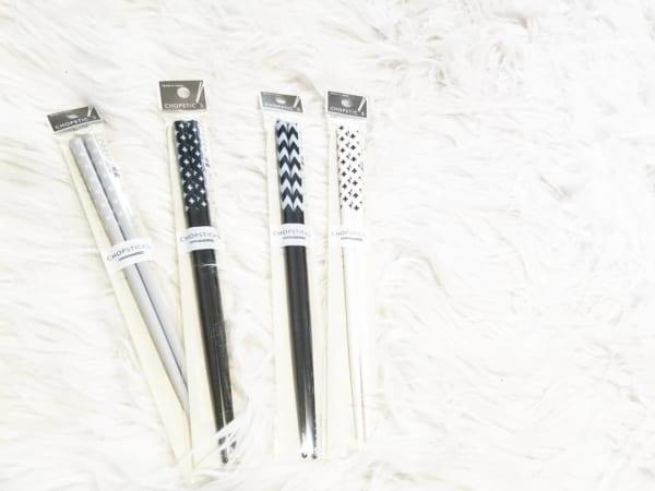 セリアの柄物のお箸