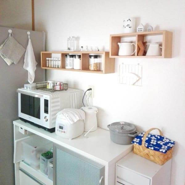 無印の壁に付けられる家具は収納に便利!3