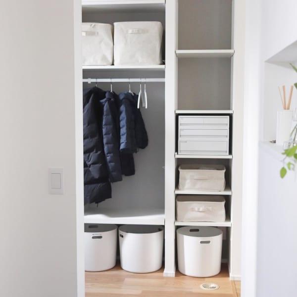 コート収納②玄関にコートの収納スペースがある実例5
