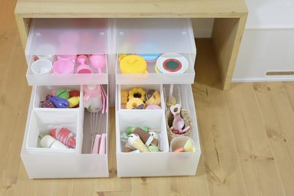 IKEAのアイテムを使用したおもちゃ収納52