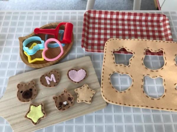 手作りおもちゃ クッキーおままごと