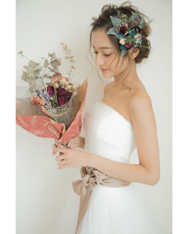 花嫁シニヨン8