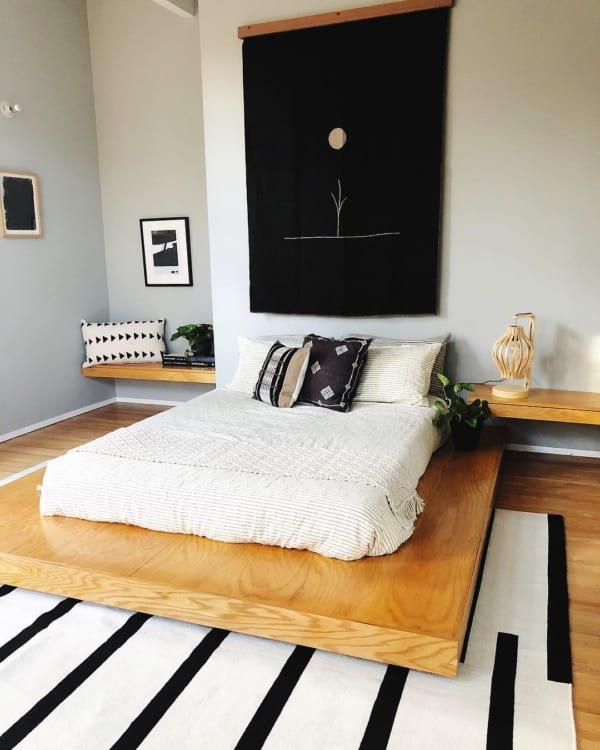 ボヘミアンミックスのベッドルームインテリア 8
