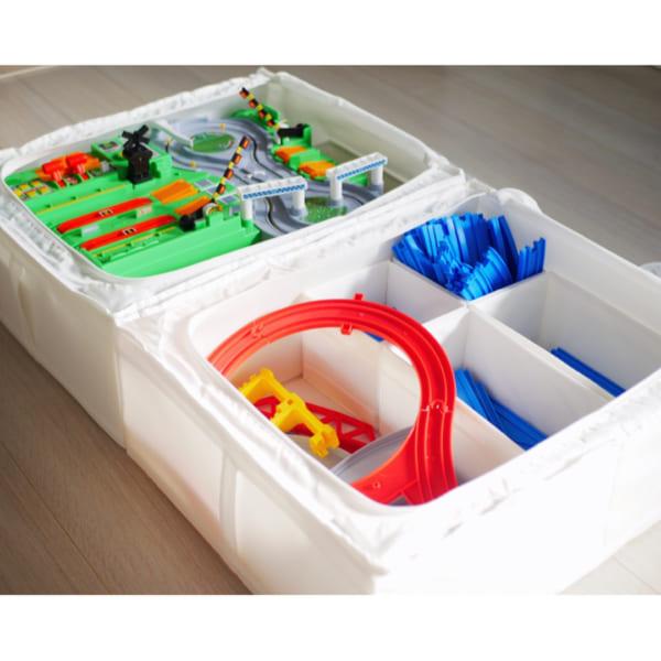 IKEAのアイテムを使用したおもちゃ収納53