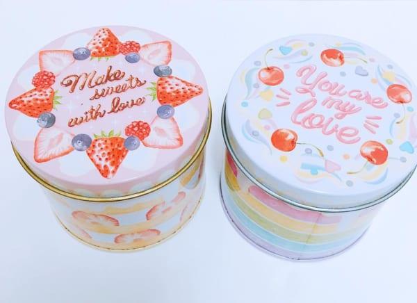 ケーキデザイン缶ケース(セリア)