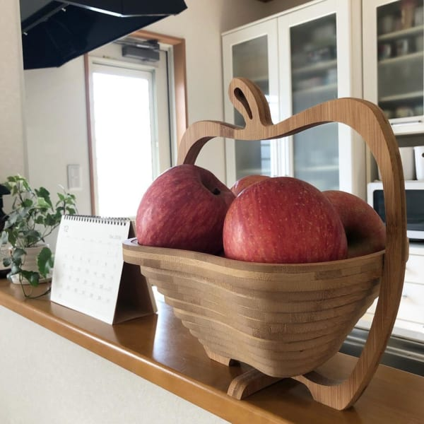 木製 りんご バスケット