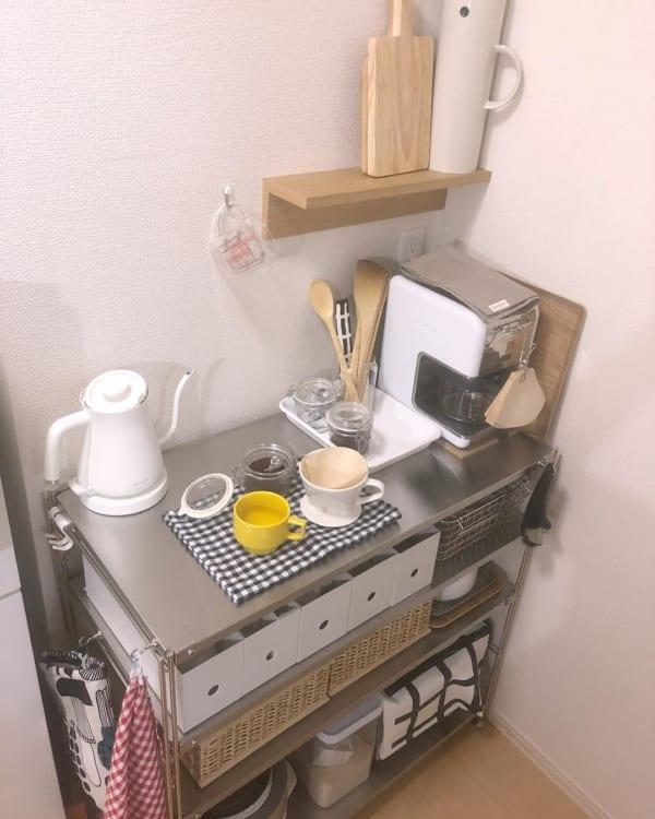一人暮らし キッチン収納15