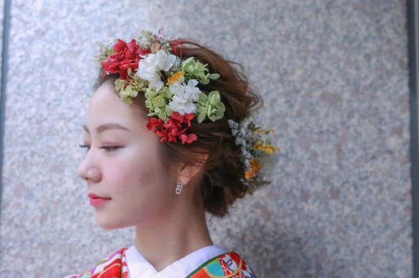 花嫁シニヨン10