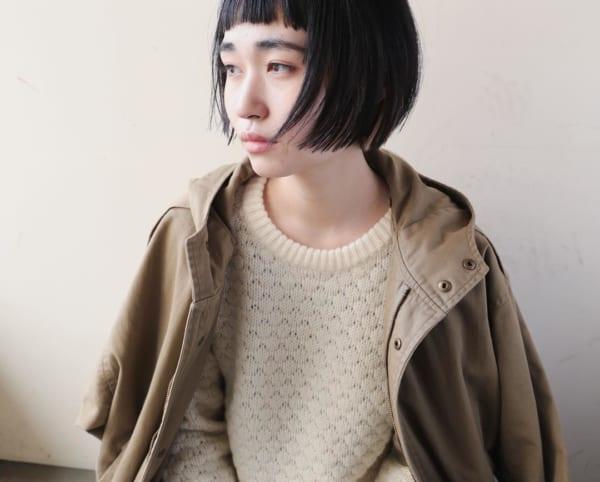 前髪短めショートボブ11