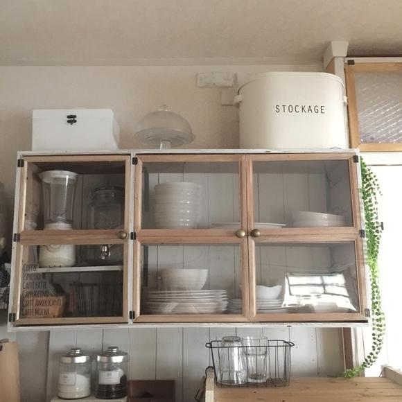 フレームDIY 食器棚