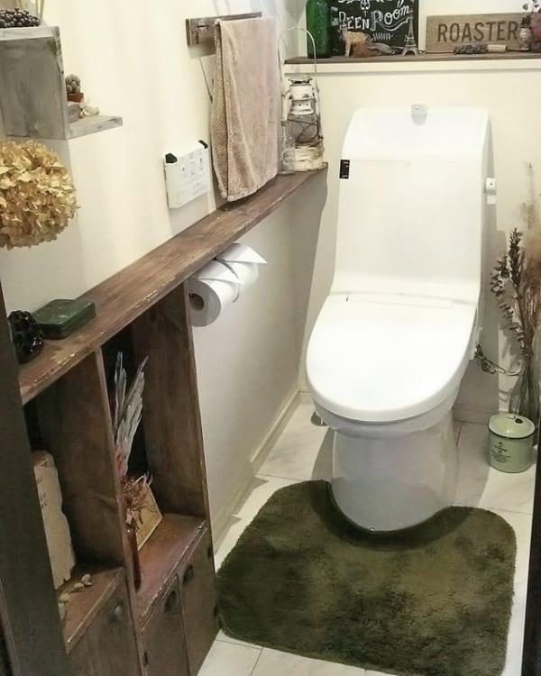 トイレ収納 棚を取り付ける7