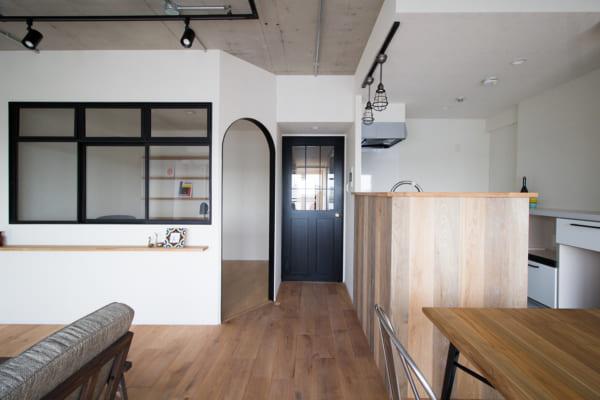 対面I型キッチン4