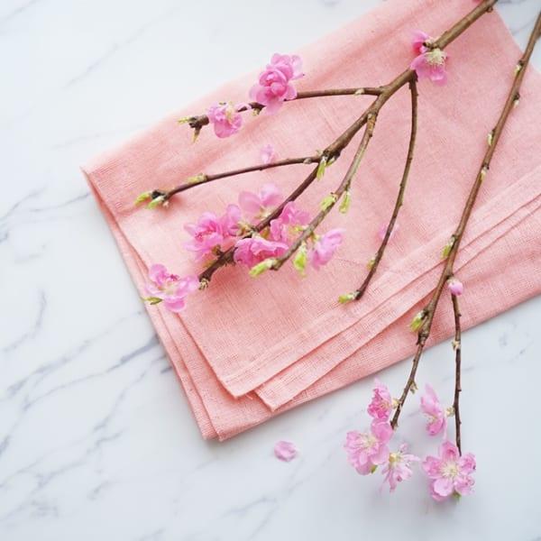 ひな祭り 花飾り 桃の花