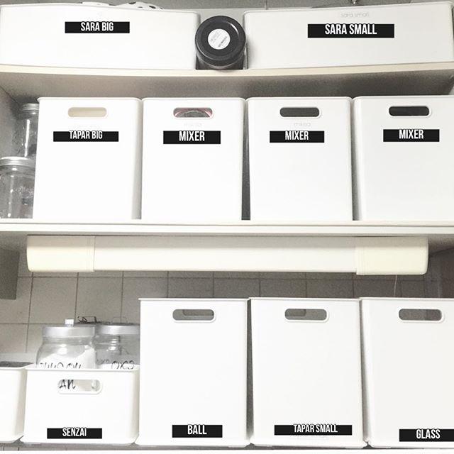 レジ袋収納 ボックス ラベル