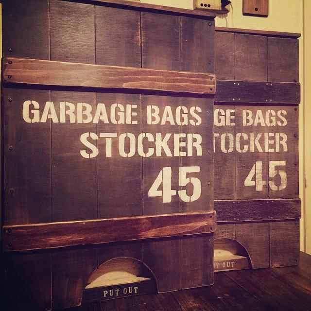 レジ袋収納 DIY ステンシル