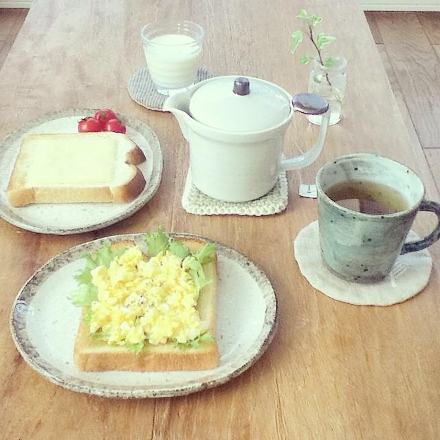 パンがメインの朝食シーン9
