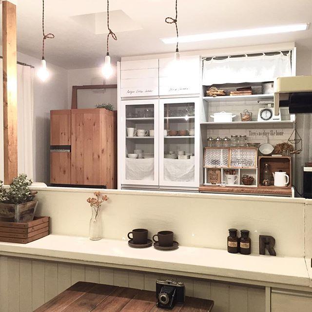 冷蔵庫周りのインテリア 冷蔵庫 リメイク