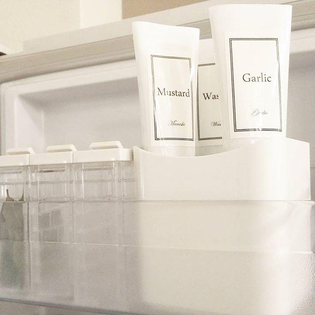 冷蔵庫の収納術 チューブカバー